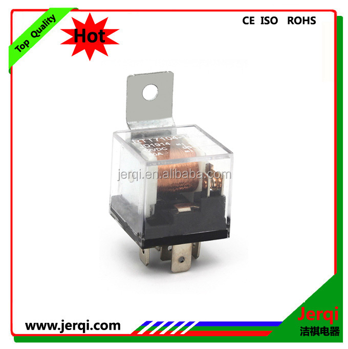 Transparent color 12V 30A 5PIN automotive relay with LED light