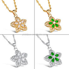 Cheap Gold /Silver Jewelry Clover Pendant Necklace