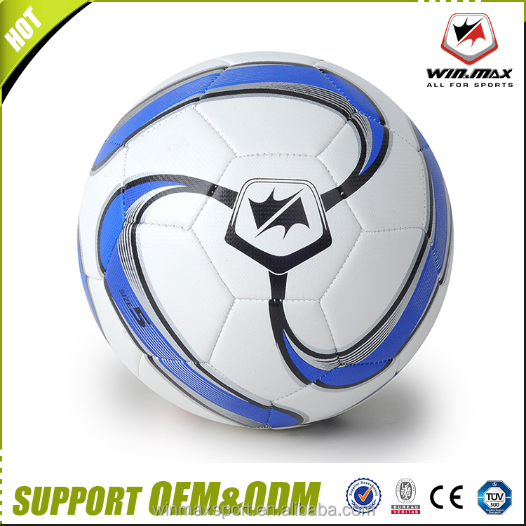 wholesale 2017 new arrival football red blue machine stiched soccer ball size 5 professional