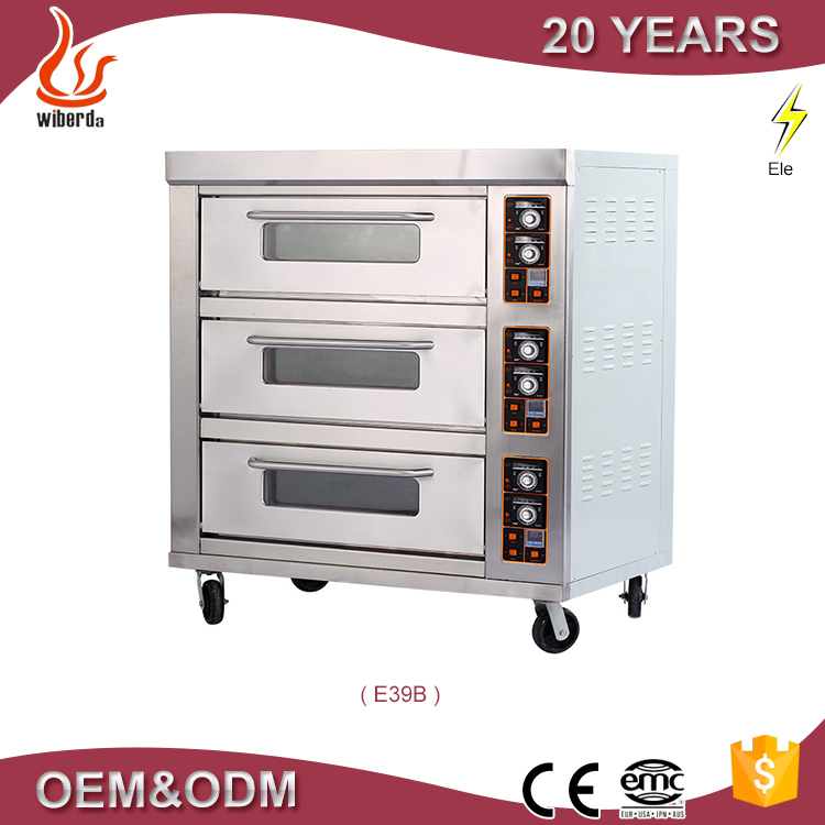 2016 Hot selling 3 decks baking oven in bakery machine