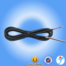 Metal tube 4*50mm silicone cable ntc thermistor temperature 50k sensor
