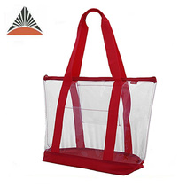 fashion transparent tote waterproof beach clear shopping pvc bag