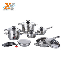 2017 16Pcs German Stainless Steel Thermometer Cookware Set