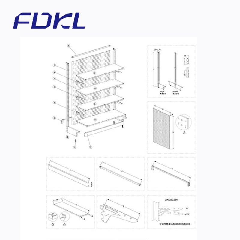 China factory modern hot sale pharmacy display rack