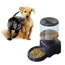 2017 New 5.5L Automatic Pet Feeder with Voice Message Recording and LCD Screen Large Smart Dogs Cats Food Bowl Dispenser