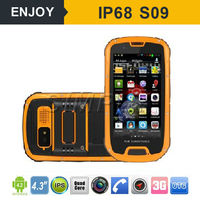 RUGGED Android 4.4 android nfc pay card reader 13.56MHZ quad core WIFI. GPS