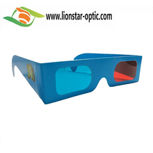 Universal Paper Anaglyph 3D Glasses Paper 3D Glasses View Anaglyph Red Cyan Red Blue 3D Glass For Movie