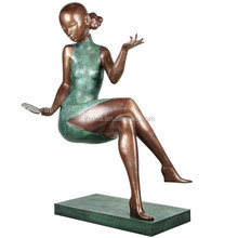 Hot Sale Casting Old Chinese Bronze Female Sculpture