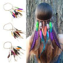 100% New Brand BOHEMIAN FESTIVAL FEATHER HEADBAND for Women