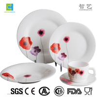 Popular opal glass dinner set 20pcs dinner set for South America/North America