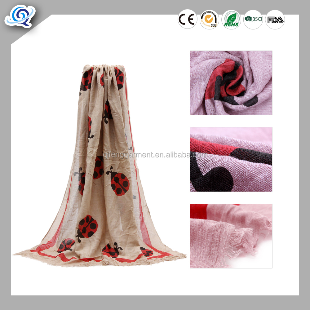Fashion colorful elegant spring customized wool/acrylic/silk/cotton/modal/viscose/polyester lady scarf