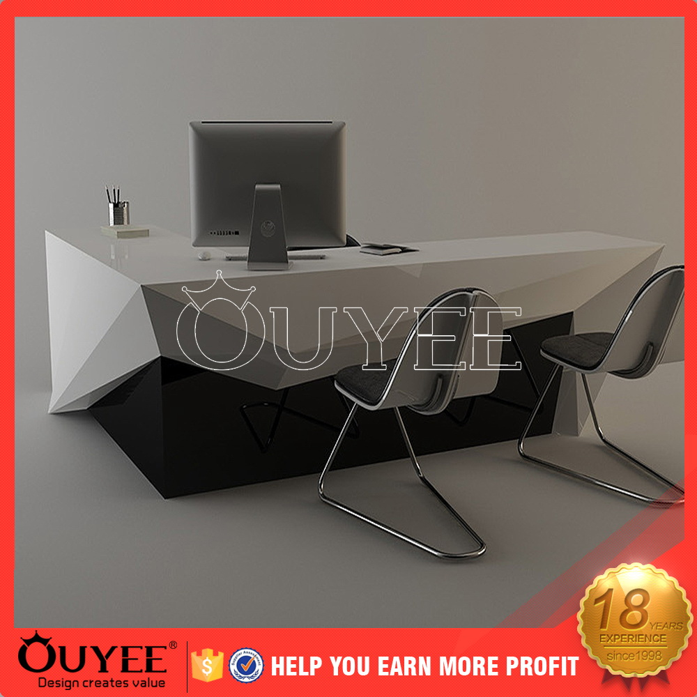 display showcase white reception desk cellphone glass counter