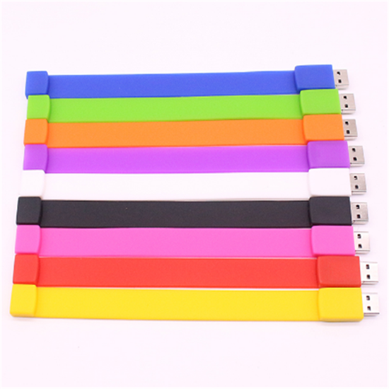 2016 promotional silicon wristband gift bracelet usb flash drive2.0
