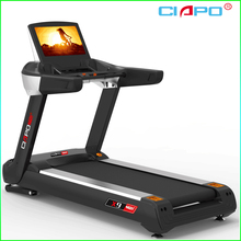 Cardio gym equipment commerical treadmill 6.5 HP AC power TV screen
