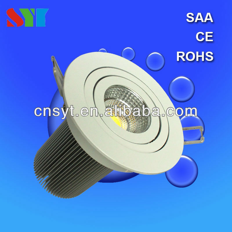 cutout 70mm dimmable driverless Samsung cob 6w saa led ceiling downlight