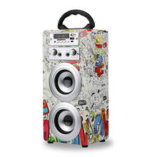 New products decal custom logo trolley wireless boombox music subwoofer active portable speaker <strong>bluetooth</strong>