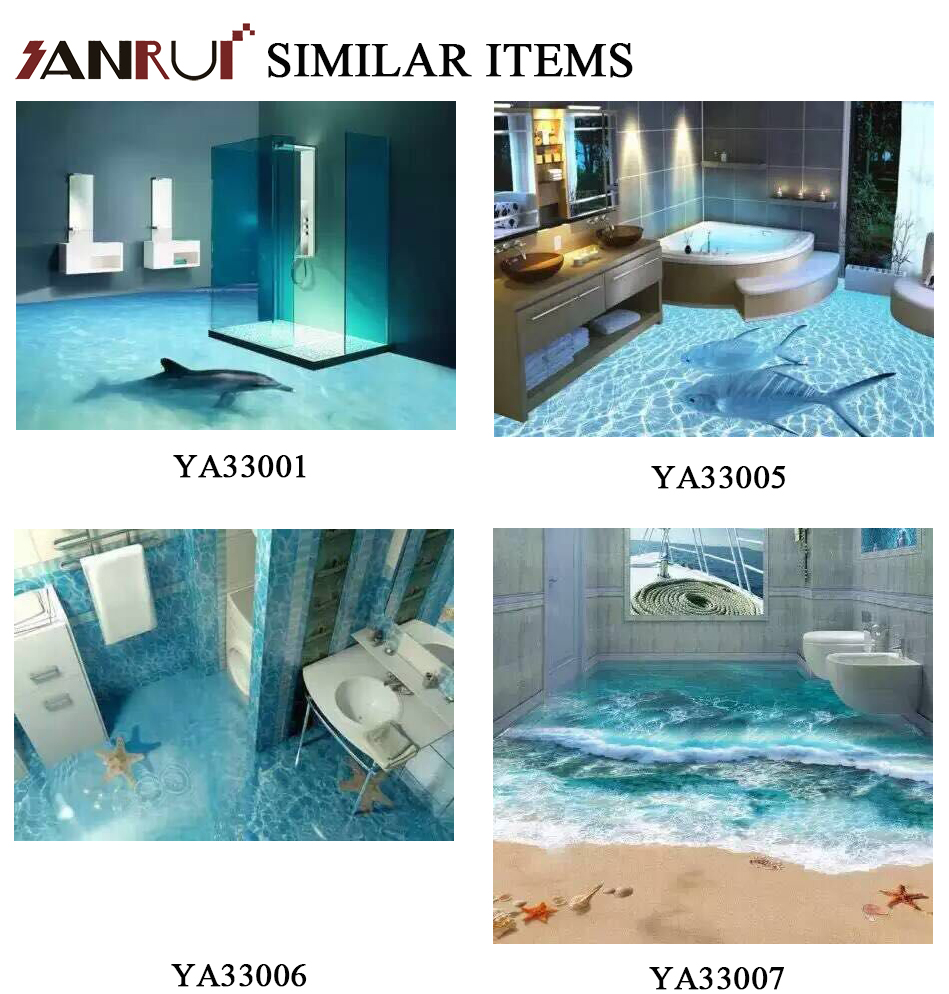 Customized Dimension Good Price 3d Wall Paper Bathroom Tile 3d ...