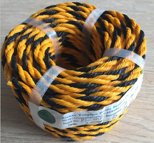 Best-selling 3-strand twisted PP/ polypropylene PE/polyethylene tiger rope