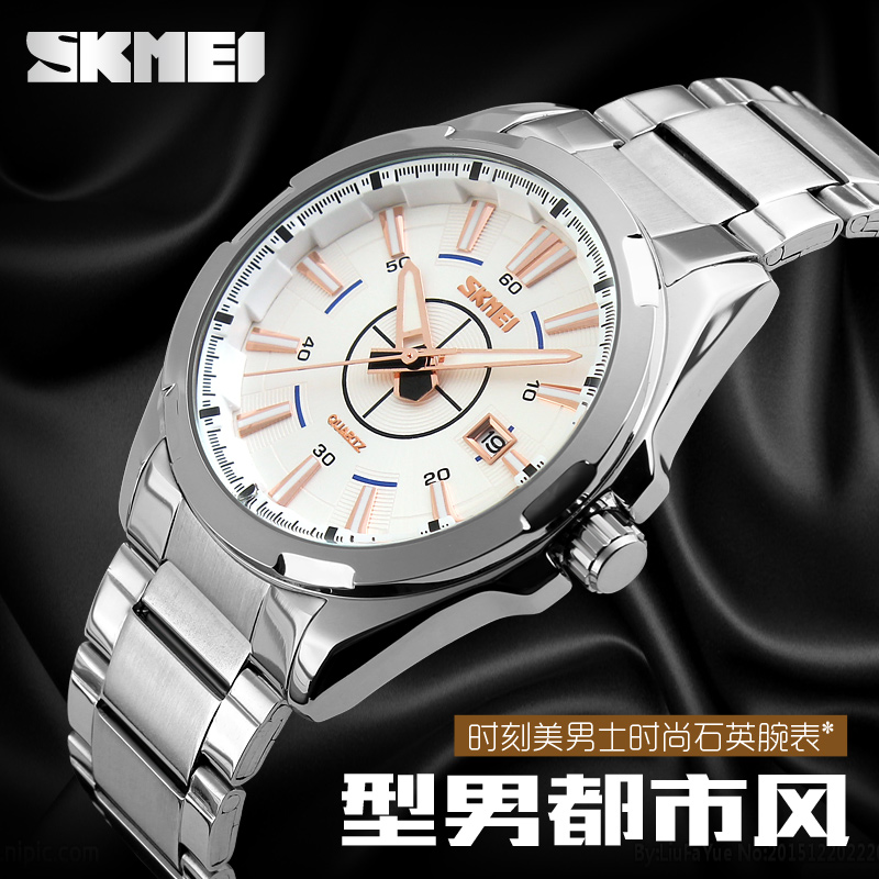 Japan movement steel watches for men with competitive price