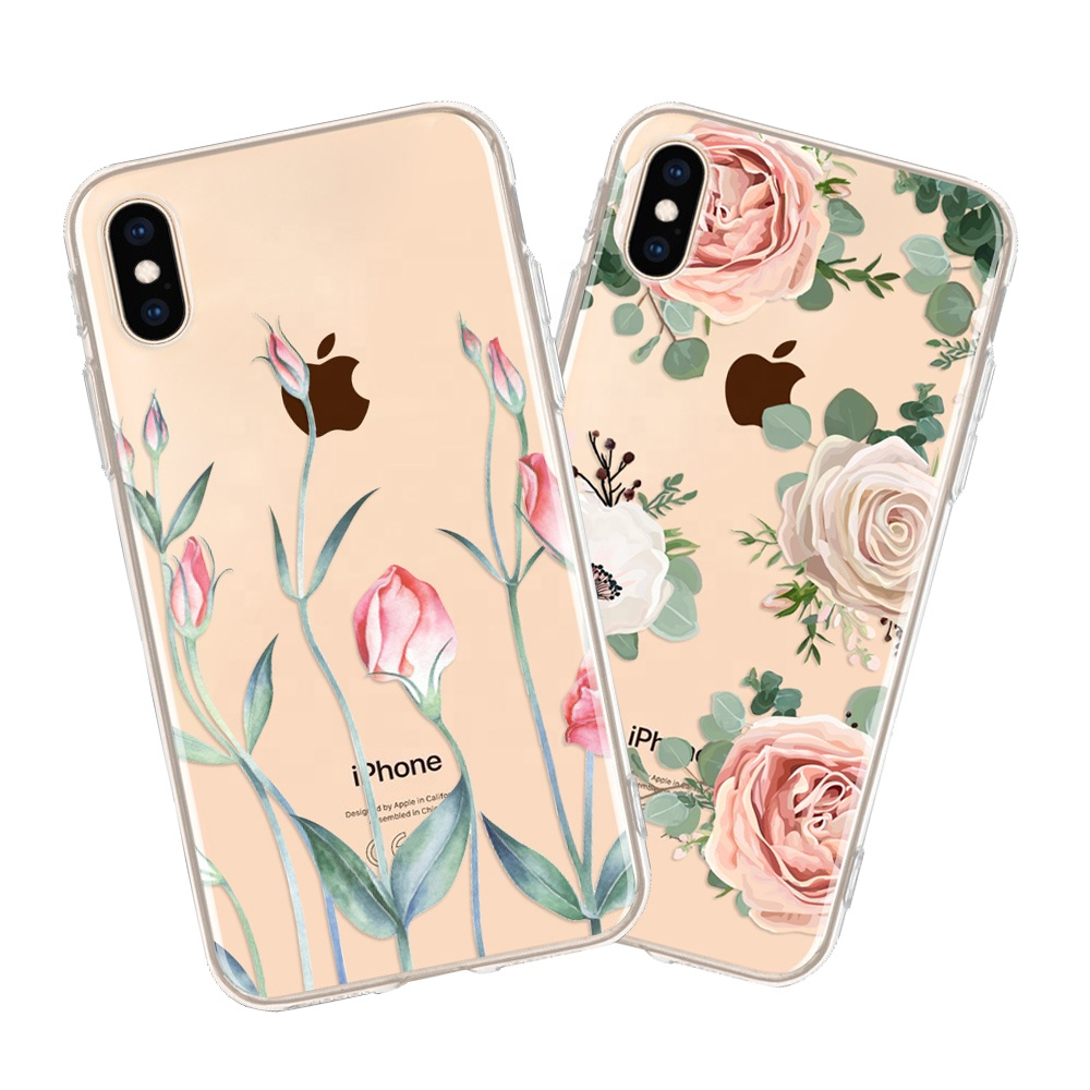 Custom Printing Design Your Own Cell Phone Case for iPhone 8 plus <strong>X</strong> Xs Max, Transparent Mobile Phone Cover for oneplus 5 6