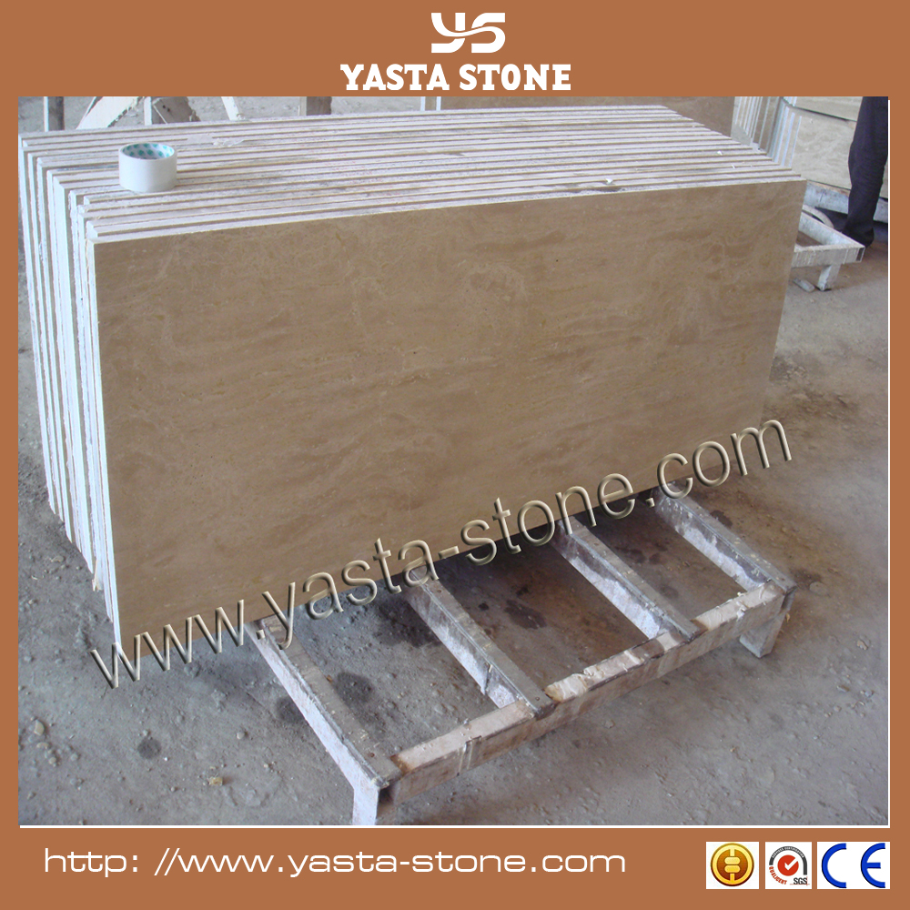 Wholesale natural beige travertine stone for antique project