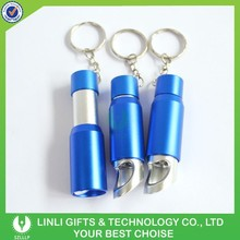 Wholesale Aluminium Flashlight Bottle Opener Keyring