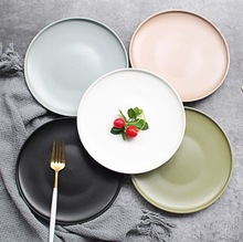 Creative new ceramic beef steak breakfast fruit dish dinner <strong>plate</strong>