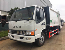 JAC 5 CBM waste compactors 4*2 compression garbage trucks for hot sale