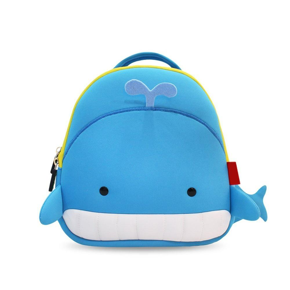 small cute whale school backpack waterproof for kids