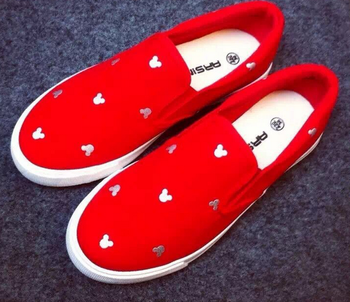 2016 mickey canvas shoes women shoes