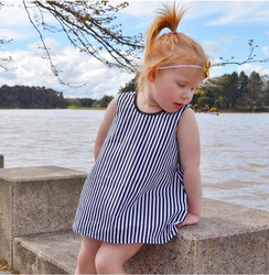 D0031 Baby coming home outfit cute toddler girl clothes stripe bow baby boy dress designs
