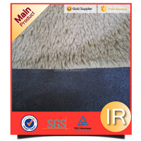faux suede fabric bonded knit fleece sherpa fabric