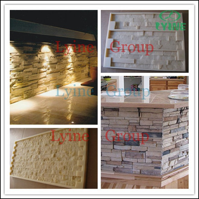 Hot!!! top quality decorative culture wall tile veneer stone silicone rubber plastic mold for sale