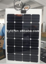75w light weight Flexible solar panel made by Back contact cells