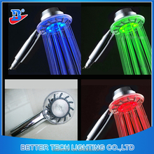LED Shower Header with red, green ,blue optional single color