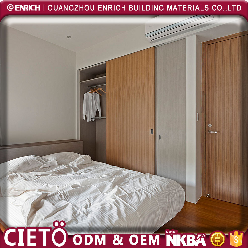 latest design bed room furniture bedroom set cheap double color wooden doors wall wardrobe closet design