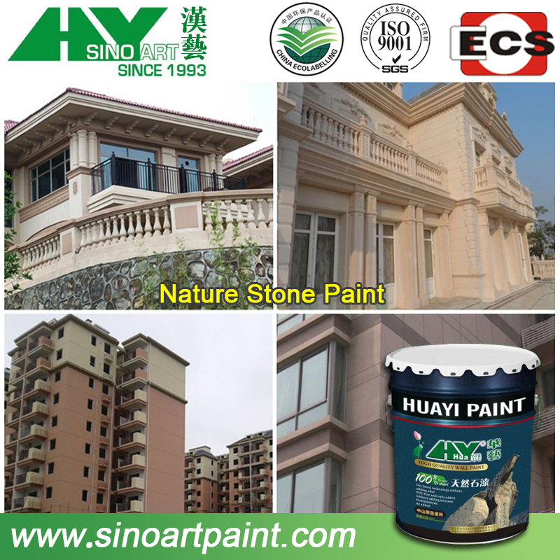 Long duration and anti uv spray natural stone texture wall paint/ coating