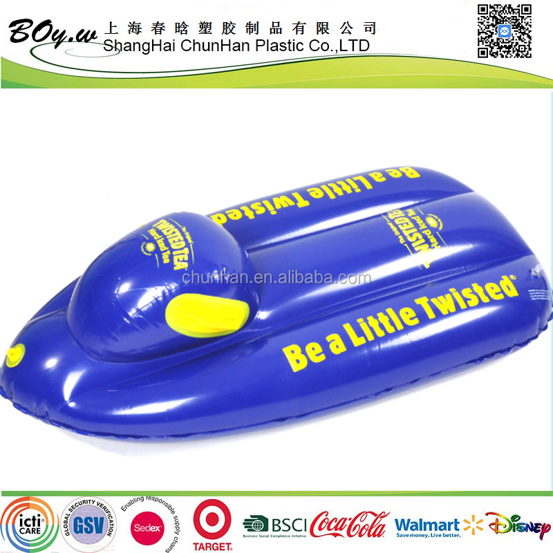 Gold supplier promotional gifts logo imprint kids sled car heavy duty pvc inflatable snow skiing