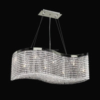Big Rectangular Modern Luxury K9 Cystal Chandeliers Pendant Lighting