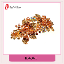 Chinese products wholesale rehinstone barrette women hairpins