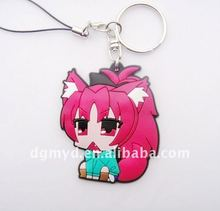 Beautiful and special wholesale custom soft pvc rubber key chain charming for promotion