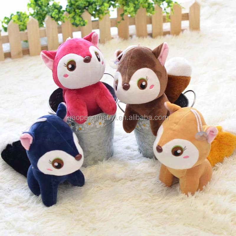 Hot selling squirrel plush toys cute soft plush baby dolls birthday gift for Kids and lover