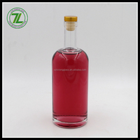 700ml superior quality flint glass champagne bottle with macromolecule cork