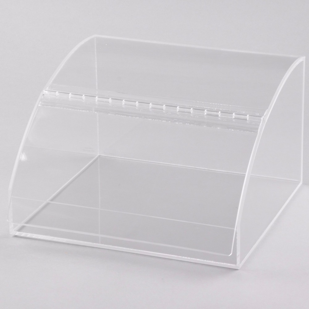 Clear Acrylic Bakery Bread Display Box Case Cabinet
