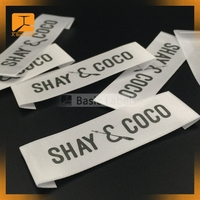 Custom cheap sew in printed woven clothing labels