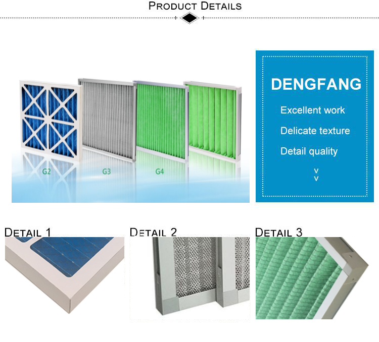 Top class quality supply durable pleated air filters hvac