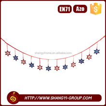 Hot customized christmas hanging garland school soft board decoration