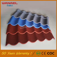 Corrugated Roofing Sheet Wanael Modern 50-Year Warranty Corrugated Galvanized Lightweight Spanish Stone Coated Roof Tiles Prices