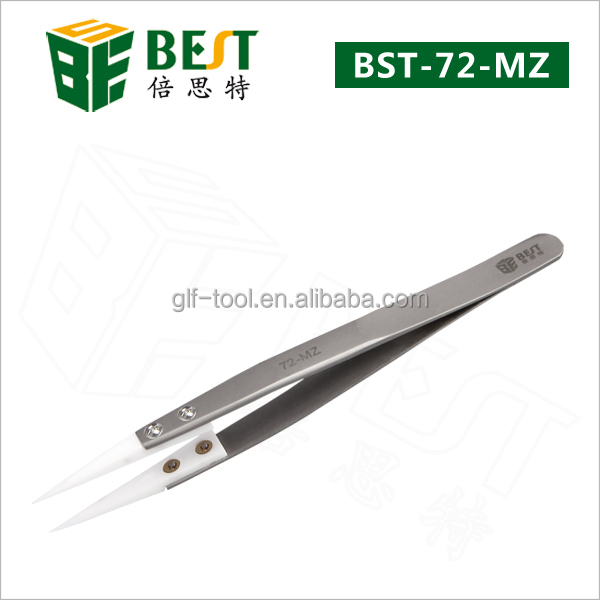 Beautiful flat round small tips Ceramic Tweezers