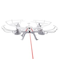 Build a flying rc helicopter quad copter drone uav with laser pointer